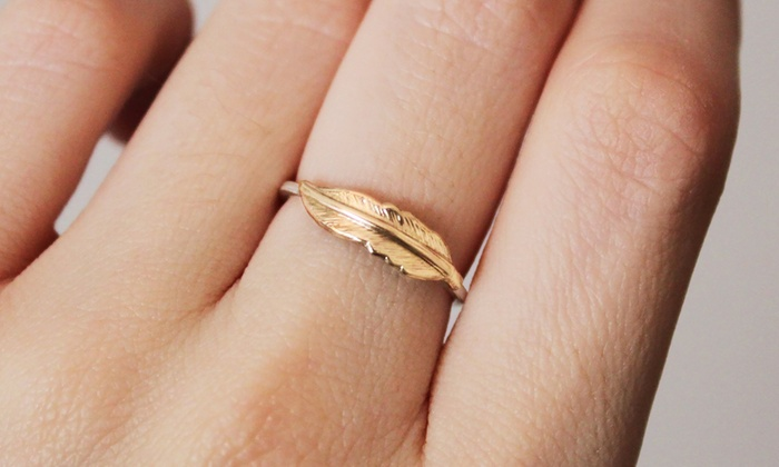 Handmade Brass Feather Ring: 19% Off Handmade Feather Ring from Nautical Wheeler Jewelry
