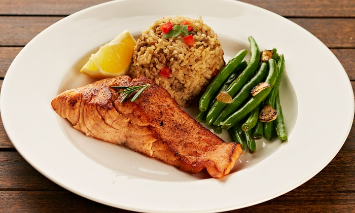 Pier 213 Seafood - Downtown Marietta: $16 for $25 Worth of Seafood and Southern Cuisine at Pier 213 Seafood. Groupon Reservation Required.