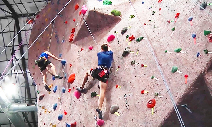 MetroRock Indoor Climbing - Multiple Locations: 5 Indoor Rock-Climbing Visits or One-Month Membership Package for One at MetroRock (Up to 67% Off)