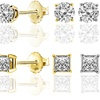 1/5 CTTW Diamond Studs Earrings Brilliant Essence Classic Collection