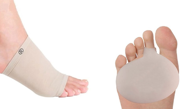 MARGOUN GENERAL TRADING: One, Two or Three Pairs of Gel Foot Arch Support Sleeves and Metatarsal Pads