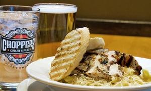 Choppers Grub & Pub: $15 for $25 Worth of Food for Two at Choppers Grub & Pub