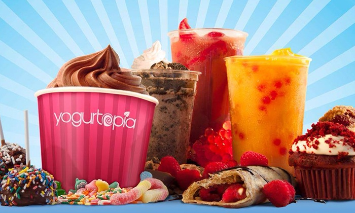 Yogurtopia - West Downtown Dearborn: $10 for Two Groupons, Each Good for $10 Worth of Crepes and Coffee at Yogurtopia ($20 Value)