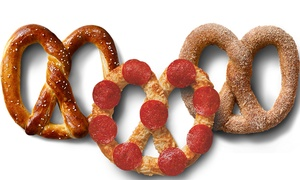 Auntie Annes: Pretzel Products at Auntie Anne's (40% Off). Two Options Available.