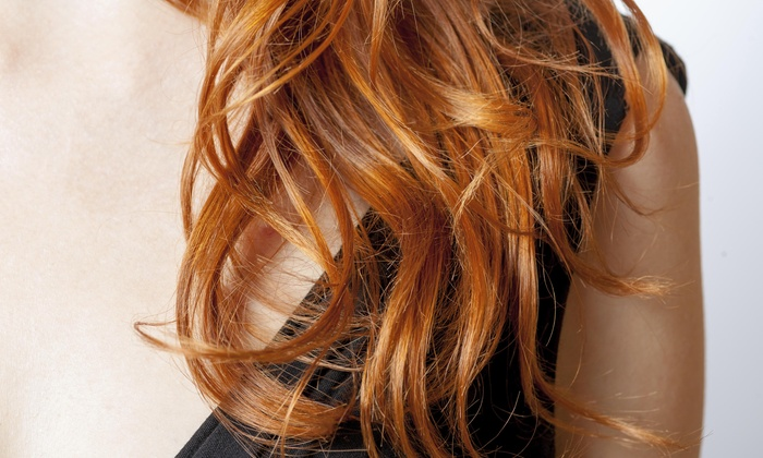 Aura Salon - Multiple Locations: Color, Highlights, and Blow-Dry from Aura Salon (60% Off)