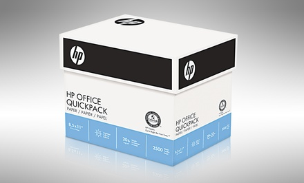 "groupon daily deal - HP Office 8.5""x11"" Copy/Print Paper; 2,500 Sheets. Free Returns."