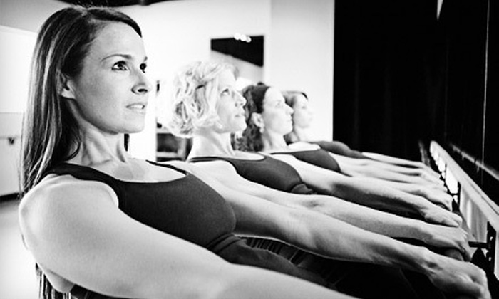 BarreAmped - Multiple Locations: Five BarreAmped Classes at BarreAmped (73% Off). Two Locations Available.