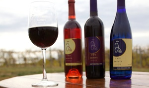 Two Saints Winery: Wine Flight or Tasting and Complimentary Wine Glasses for Two or Four at Two Saints Winery (Up to 55% Off)