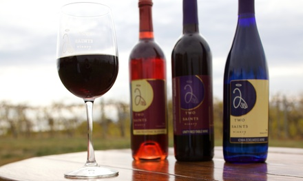 Wine Flight or Tasting and Complimentary Wine Glasses for Two or Four at Two Saints Winery (Up to 55% Off)