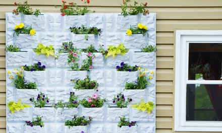 Plantscape White Stone-Style Vertical Garden Panel