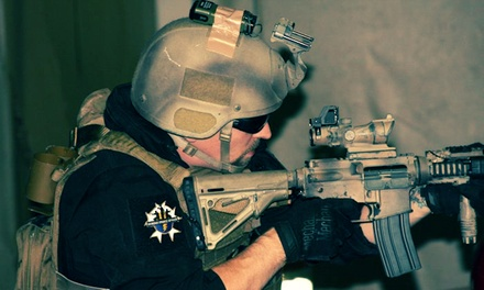 Four-Hour Airsoft Package with Rental Mask and Gun at Strikeforce Sports (Up to 51% Off)