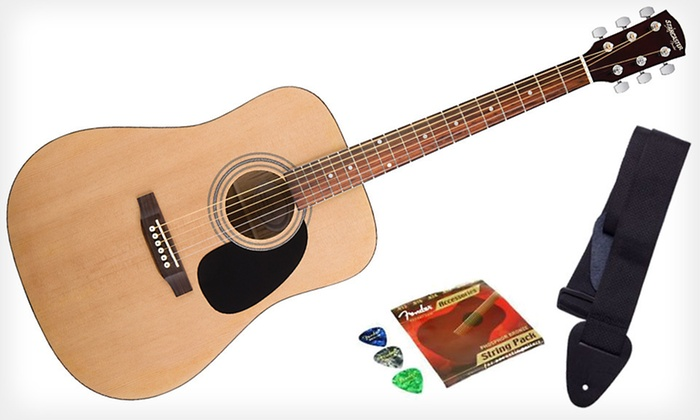 Fender Starcaster Guitar Bundle: $99 for a Fender Starcaster Acoustic Guitar Bundle ($179 List Value). Free Shipping and Free Returns.