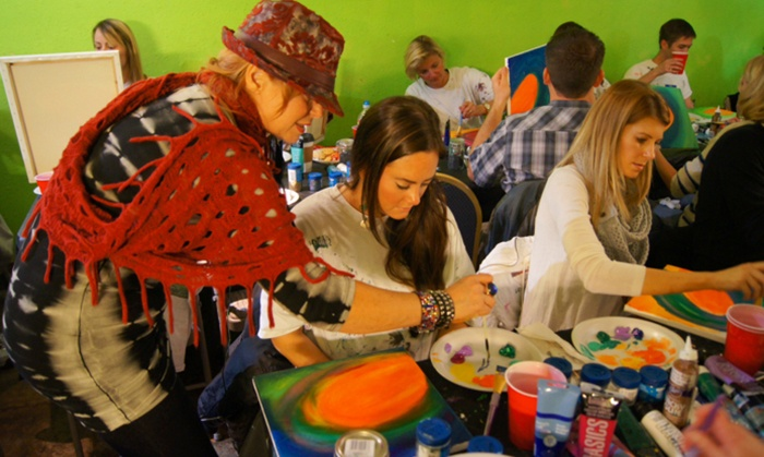 Live Art with Davina  - Multiple Locations: BYOB Painting Class with Appetizers for One, Two, or Four at Live Art By Davina (Up to 59% Off)