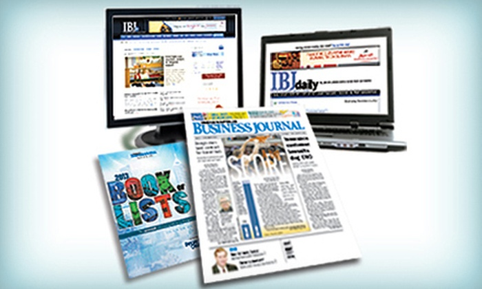 Indianapolis Business Journal: One-Year Print Subscription with Option for Premium Online Subscription to Indianapolis Business Journal (Up to 57% Off)