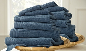 Quick-dry 12-piece Jacquard 100% Cotton Towel Set