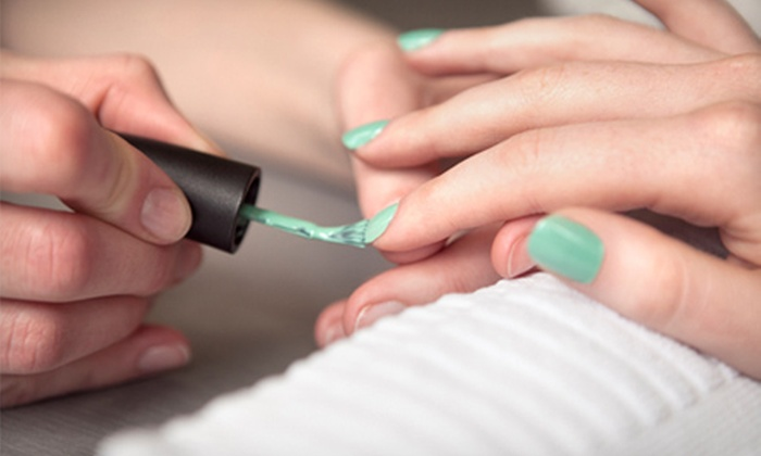 Therapy Boutique and Nail Salon - Windy Hill: One or Three Manicures or Pedicures or a Mani-Pedi at Therapy Boutique and Nail Salon (Up to 62% Off)