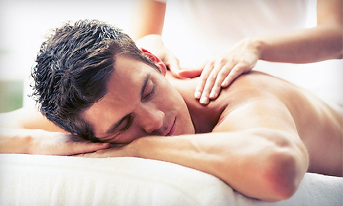 Ahhh! Massage - D'Andrea Shopping Center: 60- or 90-Minute Swedish Massage and Infrared-Sauna Session at Ahhh! Massage (Up to 57% Off)