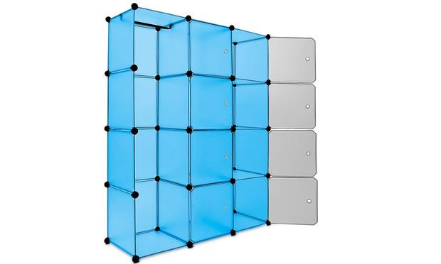 kunststoffsteckregal aus 12 boxen groupon goods. Black Bedroom Furniture Sets. Home Design Ideas