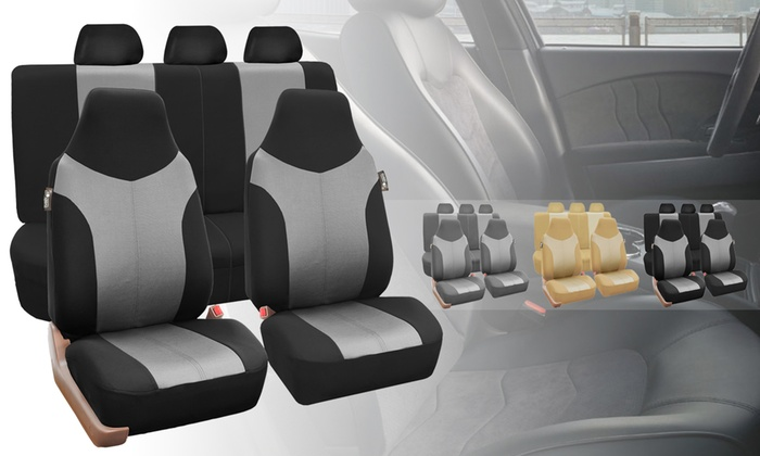 Supreme Twill Fabric High Back Car Seat Covers