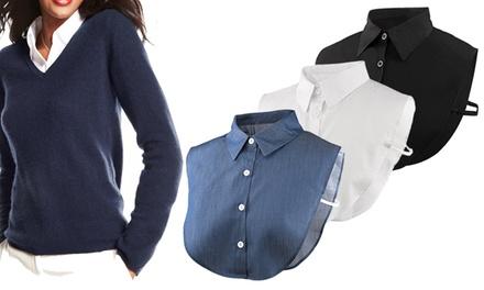 1 o 2 cuellos camisa falsa para mujer
