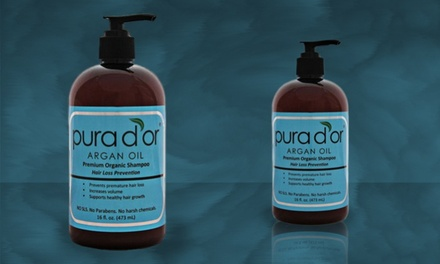 16 Fl. Oz. Pura D'or Premium Organic Hair-Loss-Prevention Shampoo