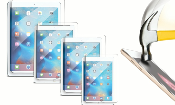 """ShatterGuardz Tempered-Glass Screen Protector for iPad 1/2/3/4, Mini 1/2/3, Air 1/2, and Pro 12.9"""""""