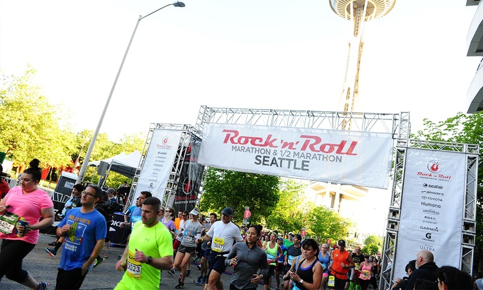 Rock 'n' Roll Marathon Seattle  - John Street & 4th Avenue N: Rock 'n' Roll Seattle Marathon and 1/2 on Saturday, June 18, 2016