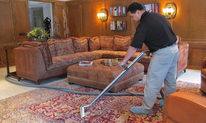 Mister Clean - Chicago: Upholstery and Carpet Cleaning for Love Seat or Area Rug and Couch from Mister Clean (Up to 46% Off)
