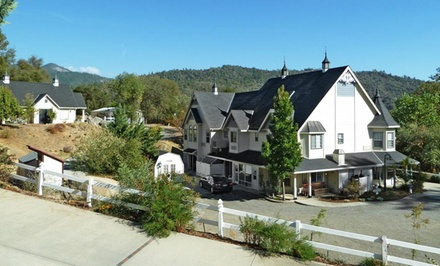 2-Night Stay for Two at Hounds Tooth Inn Bed & Breakfast in Oakhurst, CA. Combine Up to 4 Nights.