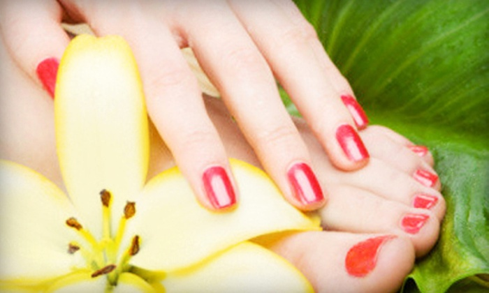 Nail Spa - West Jordan: Shellac Color Manicure with Optional Regular or Shellac Pedicure at Nail Spa (Up to 55% Off)