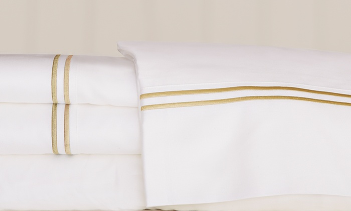 Hamptons USA 100% Cotton Four-Piece Sheet Sets: Hamptons USA100% CottonFour-Piece Sheet Sets. Multiple Styles Available. Free Shipping and Returns.