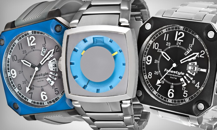 Freestyle Lifestyle Collection: Freestyle Men's Watches (Up to 66% Off). Five Styles Available. Free Shipping and Free Returns.