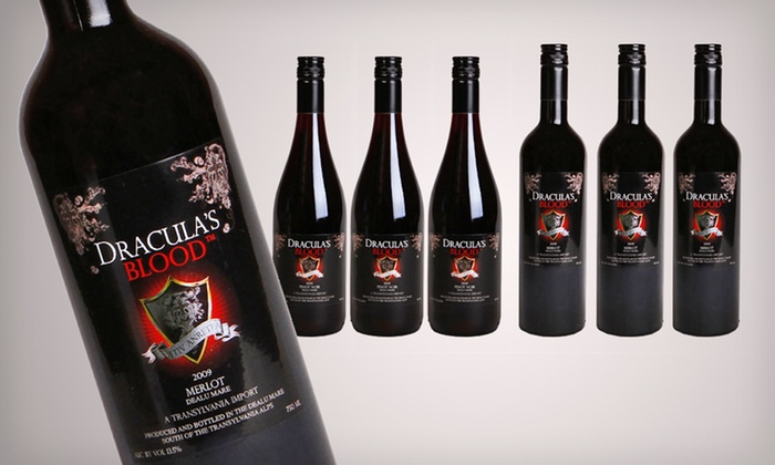 Vampire Vineyards Six-Bottle Wine Bundle: $49.99 for a Vampire Vineyards Dracula's Blood Six-Bottle Wine Bundle ($102.32 List Price). Shipping Included.