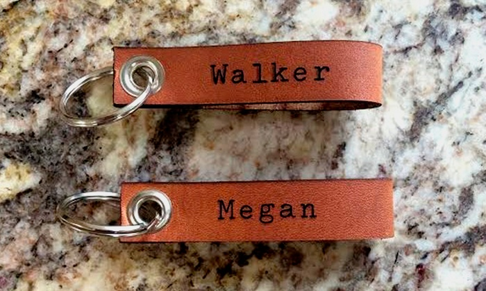 LilyDeal: Personalized Leather Keychain or Leather Cuff from LilyDeal