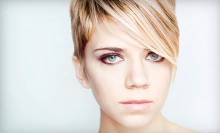 Haircut Package with Optional All-Over Color or Partial or Full Highlights at 50th Avenue Salon (Up to 66% Off)