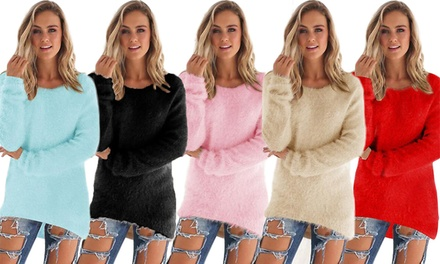 Women's Fluffy Jumper: One $15 or Two $25