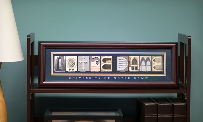 """27""""x10"""" College Letter Art: 27""""x10"""" College Letter Art. Multiple Colleges Available."""