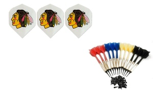 Dart Brokers: Three Chicago Blackhawks Dart Flights or a 12-Pack of Darts with In-Store Pickup at Dart Brokers (Up to 40% Off)