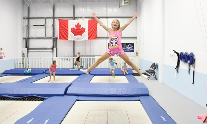 Airborne Trampoline - Airborne Trampoline KW: Three Coached Recreational Trampoline Classes or One-Hour Weekday Full-Gym Rental at Airborne Trampoline (Up to 67% Off)