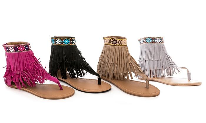 Rasolli Women's Ankle-High Gladiator Sandals