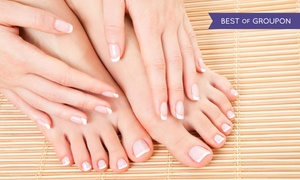 "The W Salon & Spa: ""W"" Signature Manicure or Basic Mani-Pedi at The W Salon, Spa, and Nail Bar (Up to 49% Off)"
