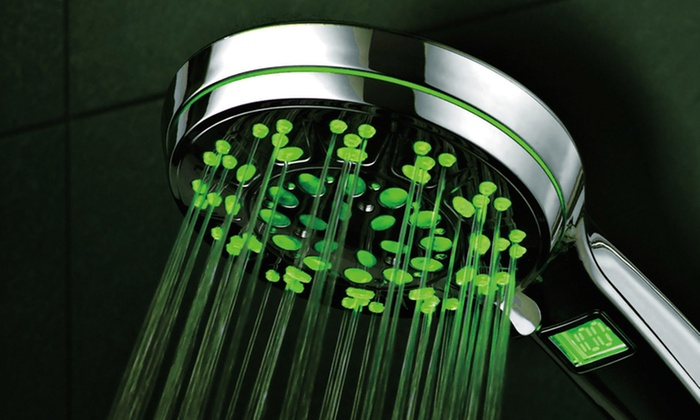 LED/LCD Luxury Hand Shower with Temperature Display: LED/LCD Luxury Hand Shower with Temperature Display. Free Returns.