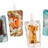 6-Pack of Animal-Print Disposable Drink Flasks