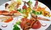 Menu gourmet di pesce e Prosecco