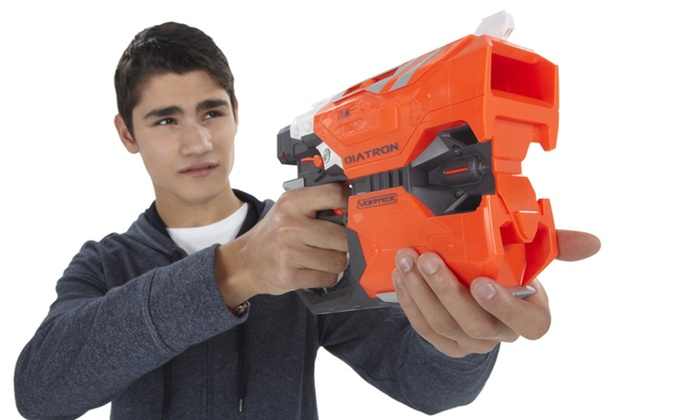 Nerf Vortex Diatron and 10-Disc Refill Pack: Nerf Vortex Diatron and 10-Disc Refill Pack.