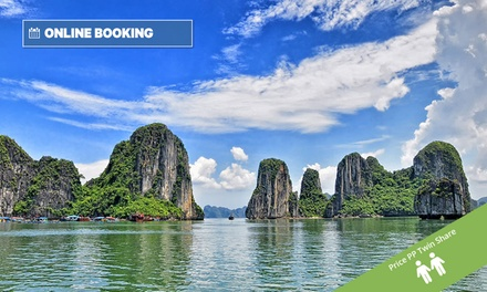 Vietnam: From $1,019 Per Person for a 14-Day Tour with Cruise, Domestic Flight and Transfers with Halong Tours Booking