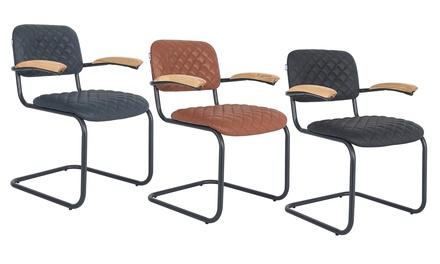 1x, 2x oder 4x Feel Furniture Leder Stuhl De Figo