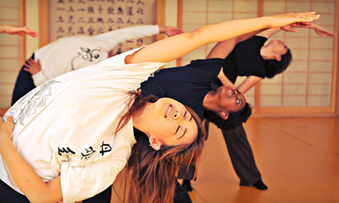 Dahn Yoga - Multiple Locations: One Month of Unlimited Yoga Classes or 10 Yoga Classes at Dahn Yoga (Up to 76% Off)