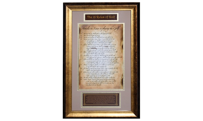 13 Rules of Golf Framed Photo | Groupon Goods