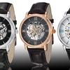 Stührling Original Men's Automatic Skeleton Watch